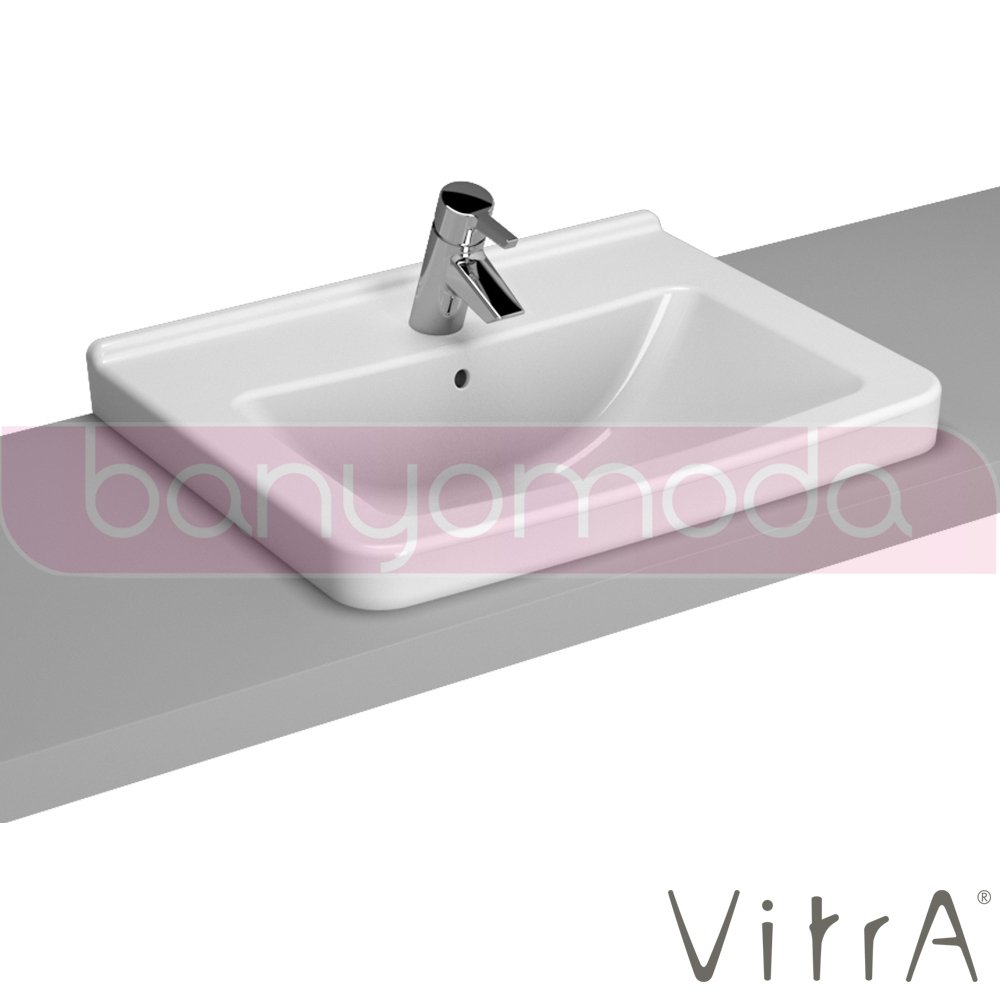 vitra s50 tezgah st lavabo 60 cm beyaz 5310b003 0861 online sat banyomarka. Black Bedroom Furniture Sets. Home Design Ideas
