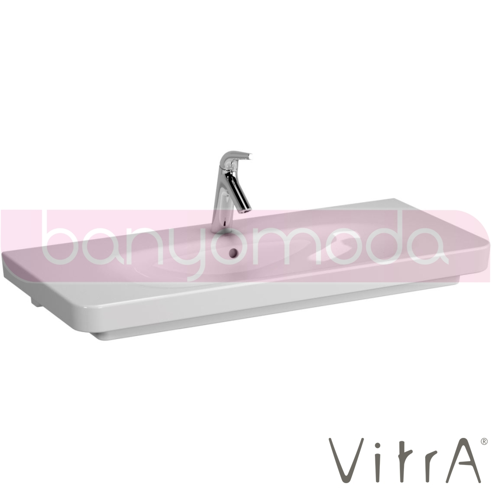 vitra sento lavabo 100 cm 5948b003 0001 online sat banyomoda. Black Bedroom Furniture Sets. Home Design Ideas