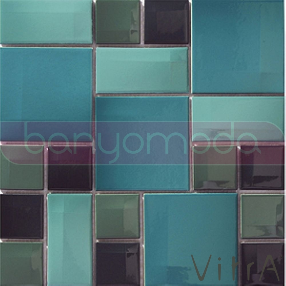 Vitra 30x30 Day To Day Aqua Mavi Mix Parlak